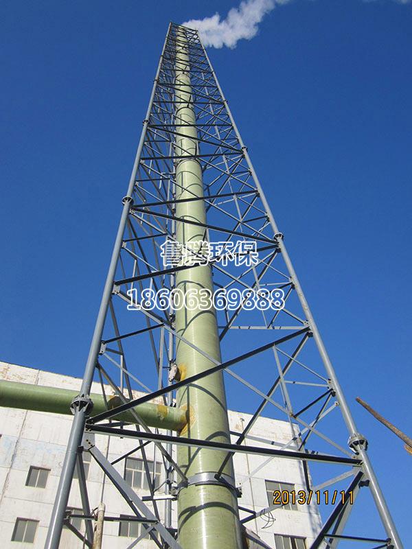 在混凝土烟囱予埋钢结构做为支撑系统